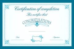 Modelo del certificado libre illustration