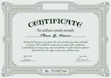 Modelo del certificado Fotografía de archivo libre de regalías