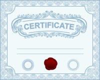 Modelo del certificado. Fotografía de archivo libre de regalías
