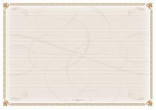 Modelo del certificado Imágenes de archivo libres de regalías