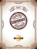 Modelo del certificado Ejemplo del vector del certificado en blanco detallado del oro Fotografía de archivo libre de regalías