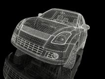 modelo del coche 3d Imágenes de archivo libres de regalías