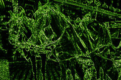 Modelo del color verde con los caballos Montante de la matriz Fotos de archivo libres de regalías