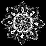Modelo del copo de nieve de la mandala apacible Foto de archivo libre de regalías