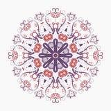 Modelo del copo de nieve redondo Fotos de archivo libres de regalías