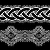 Modelo del cordón blanco y negro Imagen de archivo