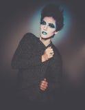 Modelo del cosmético del maquillaje de la moda foto de archivo libre de regalías