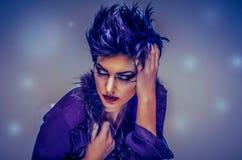 Modelo del cosmético del maquillaje de la moda imagenes de archivo