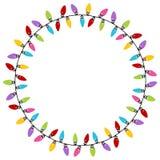 Modelo del círculo de las luces de la Navidad Imagen de archivo libre de regalías