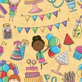 Modelo del cumpleaños Imagen de archivo libre de regalías