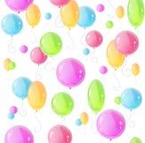 Modelo del día de fiesta con vector colorido de los globos Imagen de archivo