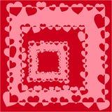 Modelo del día de San Valentín Ilustración Foto de archivo libre de regalías