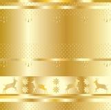 Modelo del día de fiesta del oro Imagen de archivo