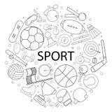 Modelo del deporte del vector con palabra Fondo del deporte ilustración del vector