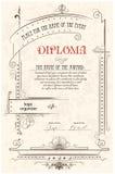 Modelo del diploma Foto de archivo libre de regalías
