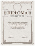 Modelo del diploma Foto de archivo
