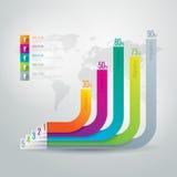 Modelo del diseño de Infographics Fotos de archivo libres de regalías