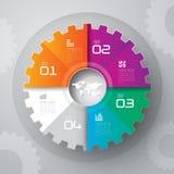 Modelo del diseño de Infographics Fotos de archivo