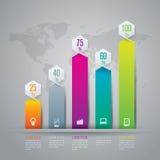 Modelo del diseño de Infographics Imágenes de archivo libres de regalías