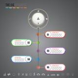 Modelo del diseño de Infographics Fotografía de archivo libre de regalías