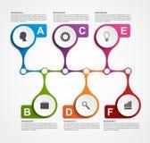 Modelo del diseño de Infographics Concepto de la cronología Imagen de archivo libre de regalías
