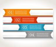 Modelo del diseño de Infographics Concepto del negocio con cuatro opciones Fotos de archivo