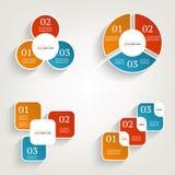 Modelo del diseño de Infographics Concepto del negocio con 3 opciones Imagenes de archivo
