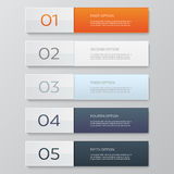 Modelo del diseño de Infographics Concepto del negocio con 5 opciones Foto de archivo libre de regalías
