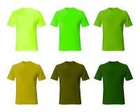 Modelo del diseño de la camisa Verde determinado de la camiseta de los hombres, color de color caqui Moda masculina modelo de las stock de ilustración