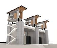 modelo del diseño de la puerta de agua 3D Fotografía de archivo libre de regalías