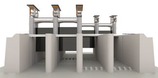 modelo del diseño de la puerta de agua 3D Imagenes de archivo