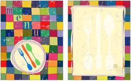 Modelo del diseño de tarjeta del menú Imagen de archivo libre de regalías