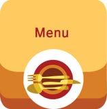 Modelo del diseño del menú del restaurante Imagen de archivo libre de regalías