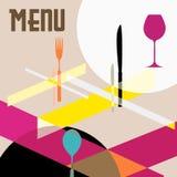 Modelo del diseño del menú del restaurante ilustración del vector