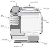 Modelo A del diseño del sitio fotografía de archivo