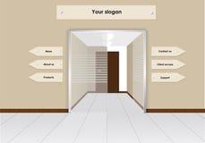 Modelo del diseño del sitio: Puerta central