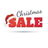 Modelo del diseño del vector Texto de la venta de la Navidad para la promoción en el fondo blanco Fotos de archivo libres de regalías
