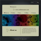 Modelo del diseño del Web site Foto de archivo