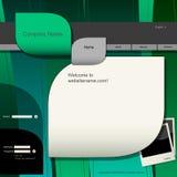 Modelo del diseño del Web site Fotos de archivo