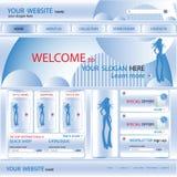 Modelo del diseño del Web site de las compras, vector Fotos de archivo