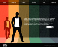 Modelo del diseño del Web site del asunto stock de ilustración