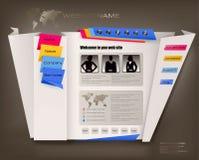 Modelo del diseño del Web site del asunto con origami. stock de ilustración