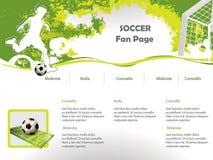 Modelo del diseño del Web site del fútbol Fotos de archivo