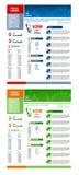 Modelo del diseño del Web site del vector Fotografía de archivo libre de regalías