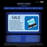 Modelo del diseño del Web site del vector Imagen de archivo libre de regalías