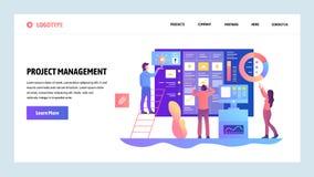 Modelo del diseño del Web site del vector Trabajo en equipo ágil de la gestión del proyecto y del negocio Conceptos de aterrizaje stock de ilustración