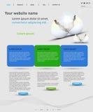 Modelo del diseño de Web Fotos de archivo