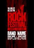 Modelo del diseño del festival de la roca. Fotos de archivo libres de regalías