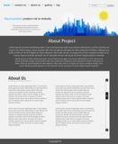 Modelo del diseño del Web site Fotos de archivo libres de regalías