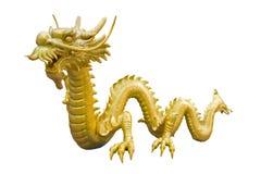 Modelo del dragón del oro Fotografía de archivo libre de regalías